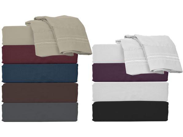 Style Basics Super Soft Brushed Microfiber Bed Sheet Set - 1800 Series Easy-Clean - California King Blue