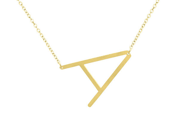 18K Gold Plated Letter Necklace
