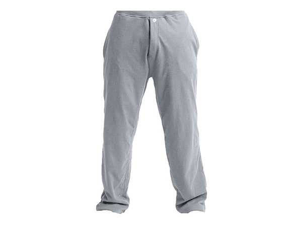 DudeRobe Pants: Luxury Towel-Lined Lounging Sweatpants (Gray, S/M)