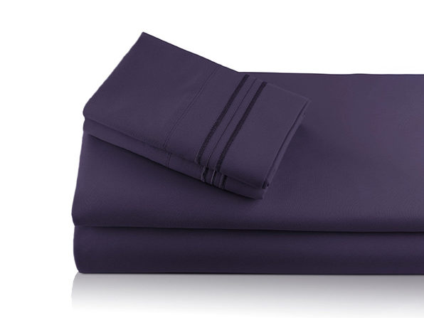 Bali Bamboo Luxury 6-Piece Plum Sheet Set (King)
