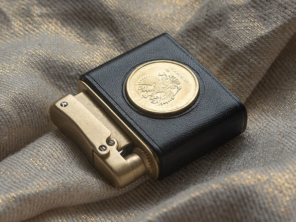 Classic Lighter with Eagle Coin Sleeve