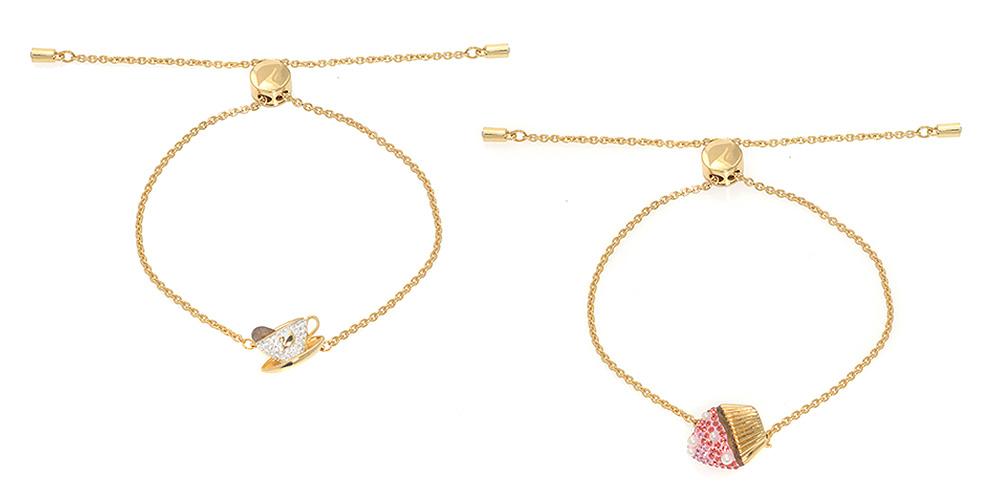 Swarovski 2-Piece Nicest Goldtone Light Multicolor Crystal Bracelets