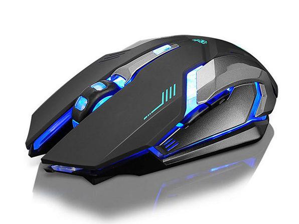 Ninja Dragon Stealth 7 Wireless Silent LED Backlit Mouse (Black)