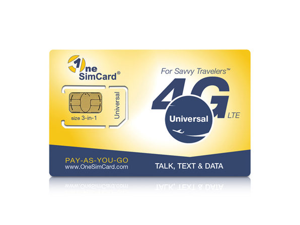OneSimCard Universal With $5 Airtime Balance