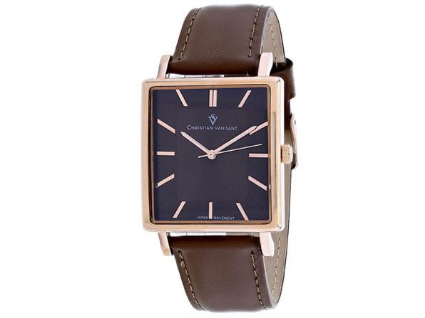 Christian Van Sant Men's Ace Brown Dial Watch - CV0435 - Product Image