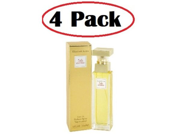4 Pack of 5TH AVENUE by Elizabeth Arden Eau De Parfum Spray 1 oz - Product Image