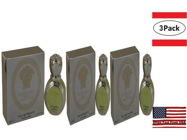 3 Pack Versace Eros by Versace Eau De Toilette Spray 1 oz for Women