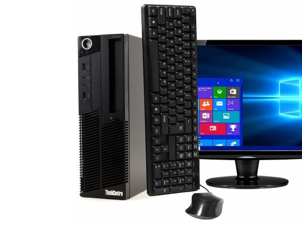 "Lenovo ThinkCentre M90 Desktop PC, 3.1GHz Intel i5 Dual Core Gen 1, 8GB RAM, 500GB SATA HD, Windows 10 Home 64 bit, 22"" Screen (Renewed)"