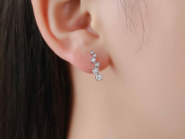 Bubbly 0.51CT Lab-Grown Diamond Earrings in 10K White Gold