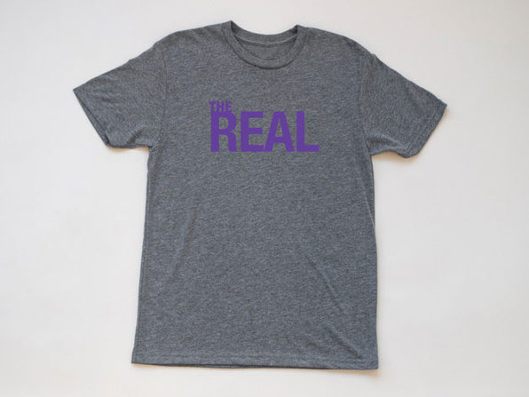 The Real Heather Gray T-Shirt (Large)