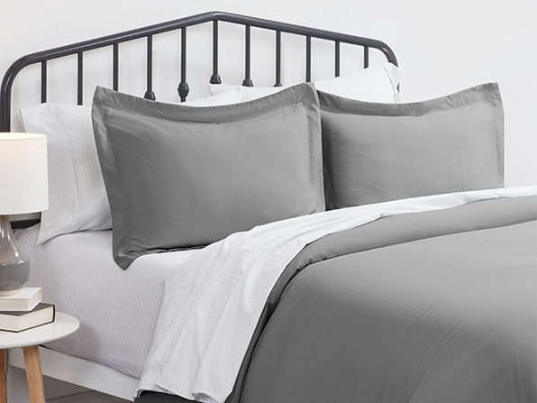 Home Collection Premium Ultra Soft 3-Piece Duvet Cover Set (Gray/King)