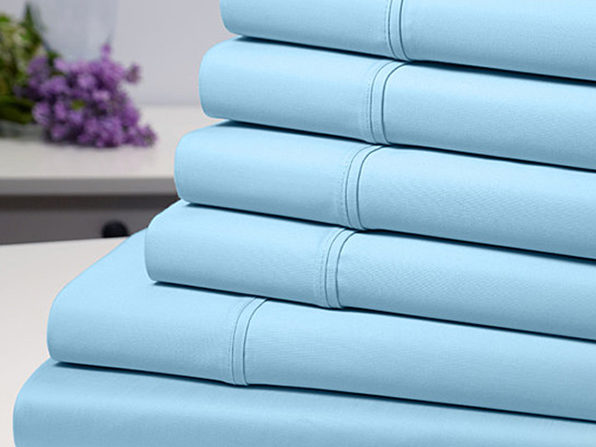 Bamboo Comfort 6-Piece Luxury Aqua Sheet Set (King)