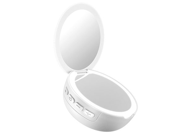 Pocket LED Mirror with Speaker