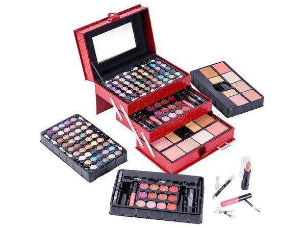 SHANY All In One Makeup Kit (Eye Shadow, Blushes, Powder, Lipstick & More) Holiday Exclusive - RED