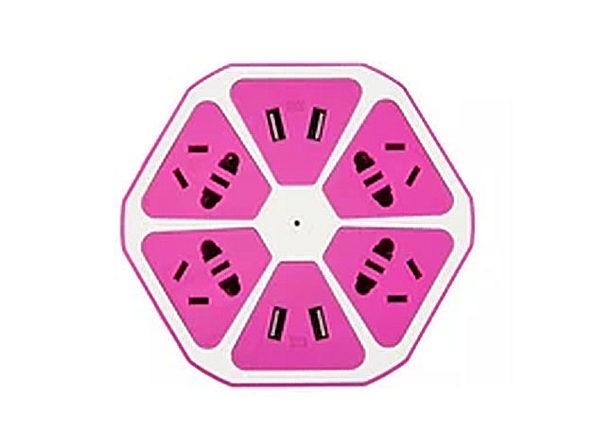Multi Port Fruit Charging Station - Pink - Product Image