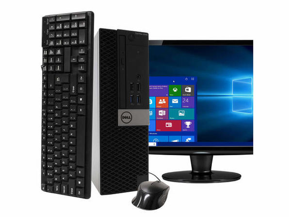"Dell Optiplex 5040 Desktop PC, 3.2GHz Intel i7 Quad Core Gen 6, 8GB RAM, 1TB SATA HD, Windows 10 Professional 64 bit, BRAND NEW 24"" Screen (Renewed)"