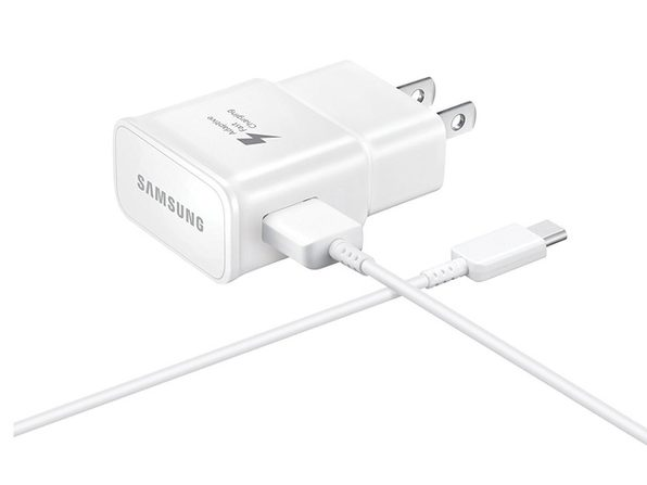 Verizon Samsung Galaxy Adaptive Fast Charger with TYPE C USB cable for All Verizon Samsung Phones - White