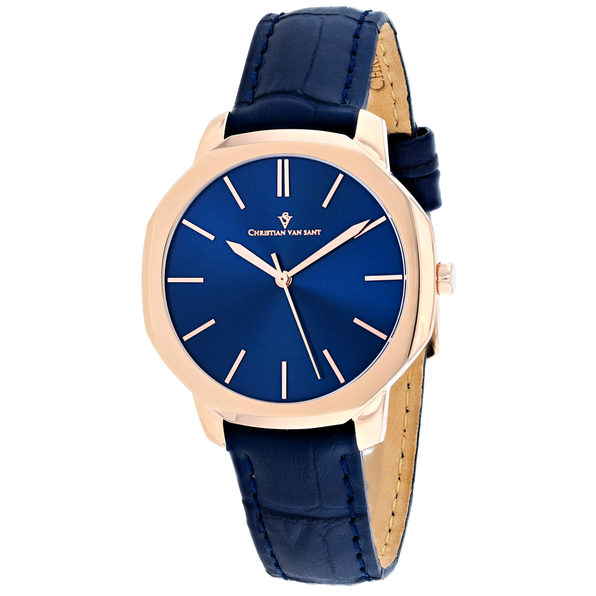 Christian Van Sant Women's Octave Slim Blue Dial Watch - CV0505 - Product Image