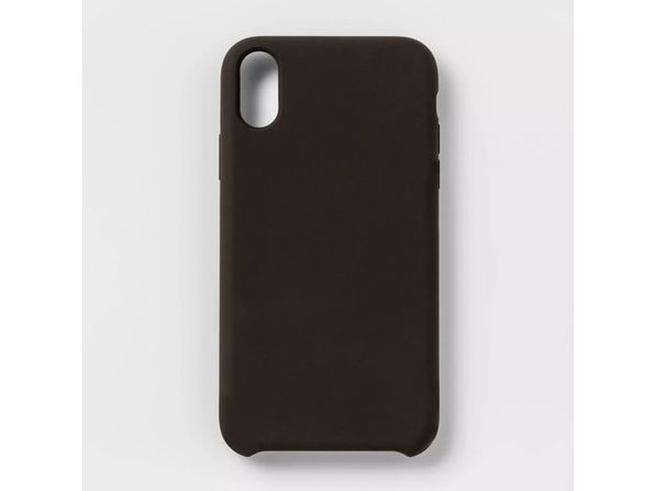 Heyday Silicone Durable and Lightweight Solid Color Apple iPhone XR Matte Case, Black (New Open Box)