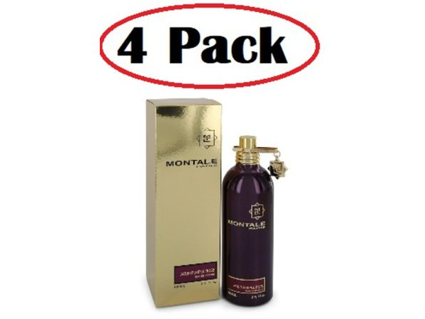 4 Pack of Montale Aoud Purple Rose by Montale Eau De Parfum Spray (Unisex) 3.4 oz - Product Image
