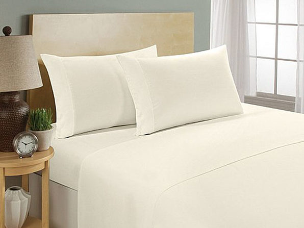 Ultra Soft 1800 Series Bamboo Bed Sheets: 4-Piece Set (King/Ivory) - Product Image