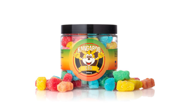 High Potency CBD Sour Bear Gummies (500 Mg)