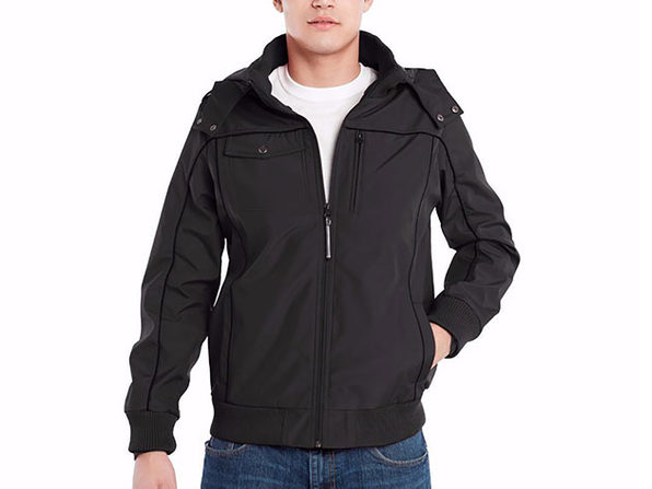 BauBax Men's Bomber Jacket (Black)