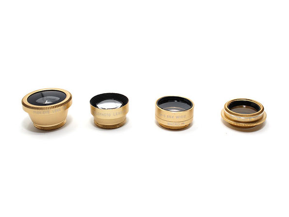 5-in-1 Clip & Snap Smartphone Camera Lenses (Gold)