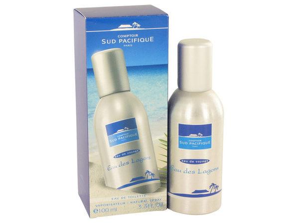 3 Pack COMPTOIR SUD PACIFIQUE Eau Des Lagons by COMPTOIR SUD PACIFIQUE Eau De Toilette Spray 3.3 oz for Women