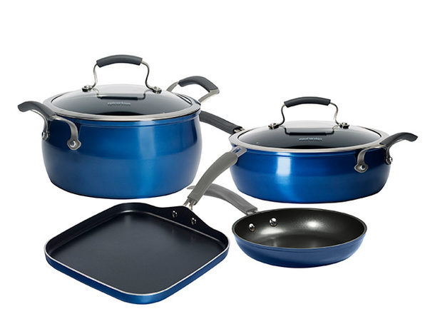 6-Piece Epicurious Arctic Blue Cookware Set