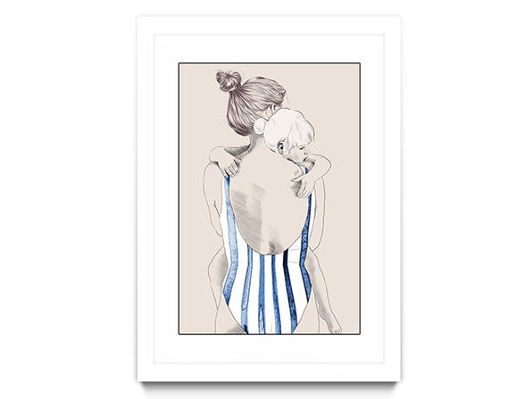 """Daughter"" by Jenny Liz Rome (Framed Print White)"