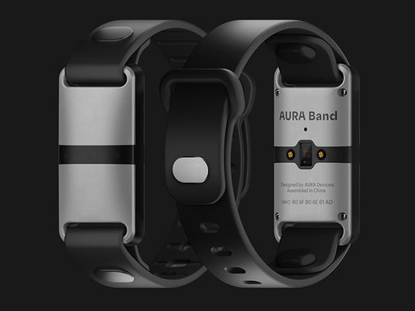 AURA Band Fitness Tracker (White Device/Black Band)