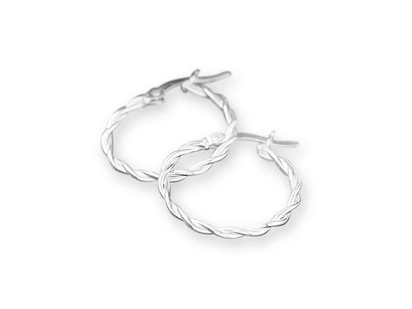 Sterling Silver Intertwine Hoop Earrings