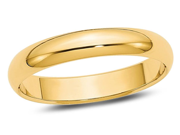 Ladies 14K Yellow Gold 4mm Wedding Band - 9