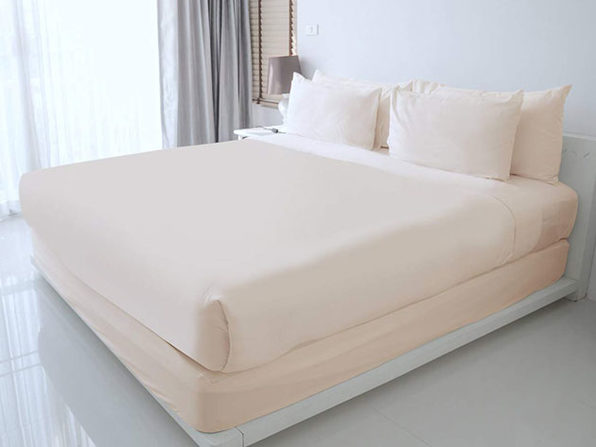 100% Egyptian Cotton Sheet Set (Ivory/Queen)
