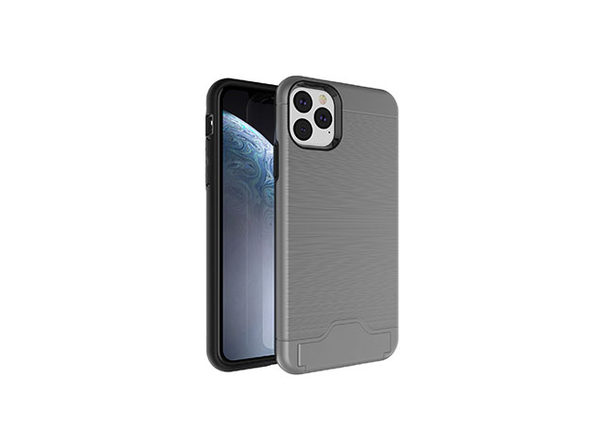 iPhone 11 Case With Hidden Credit Card Case - Gray - Product Image