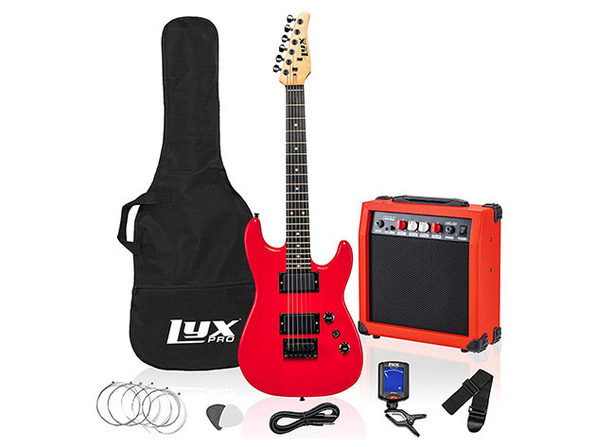 "LyxPro 36"" Electric Guitar with 20W Amp Kit"