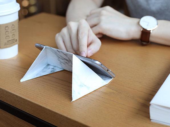 FODI Origami Multi-Purpose Device Stand (White Marble)
