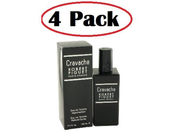 4 Pack of Cravache by Robert Piguet Eau De Toilette Spray 3.4 oz - Product Image