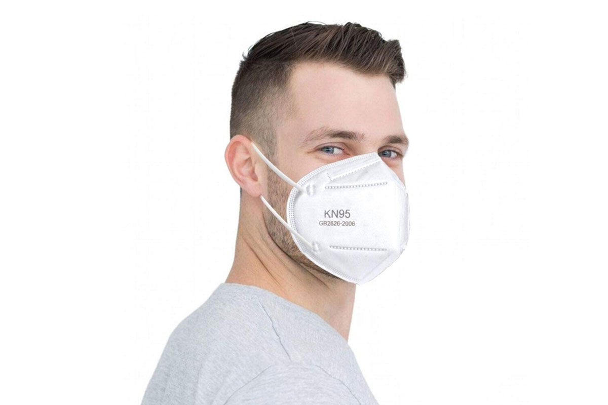 A person wearing a face mask