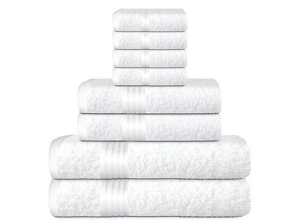 Hurbane Home 8-Piece Bath Towel Set White - Product Image