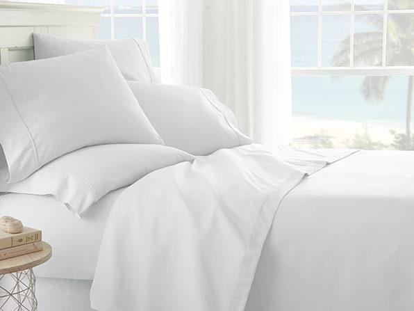 White 6-Piece Sheet Set - Cal King - Product Image