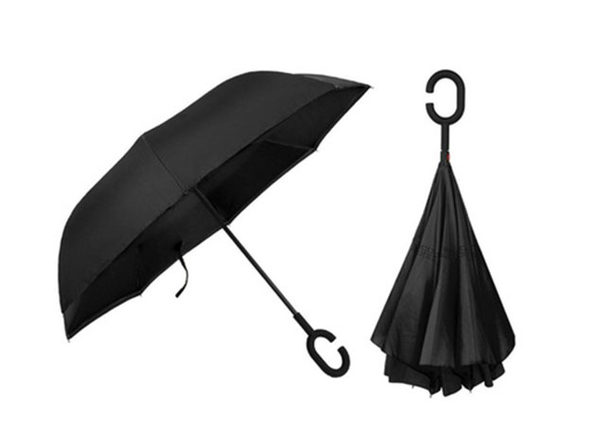 SwissTek Double Layer Smart Umbrella: 2-Pack (Black) - Product Image