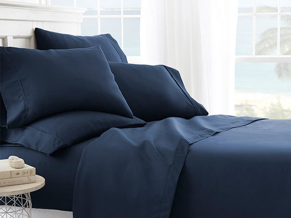 iEnjoy Home Navy 6-Piece Sheet Set (Cal King)