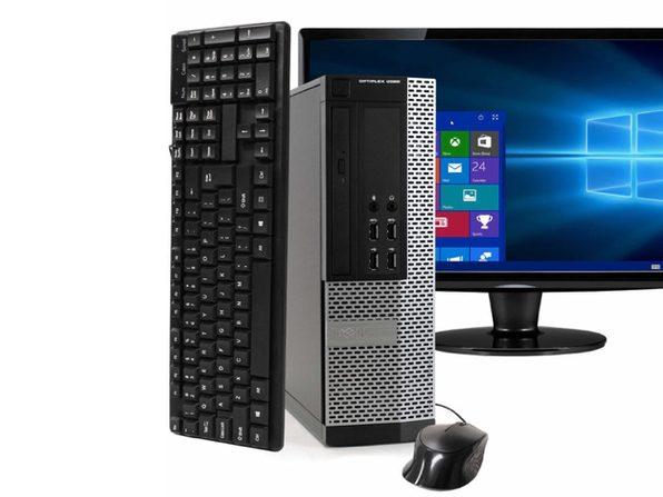 """Dell OptiPlex 9020 Desktop PC, 3.2 GHz Intel i5 Quad Core Gen 4, 8GB DDR3 RAM, 512GB SSD, Windows 10 Professional 64 bit, 22"""" Widescreen Screen (Renewed)"""
