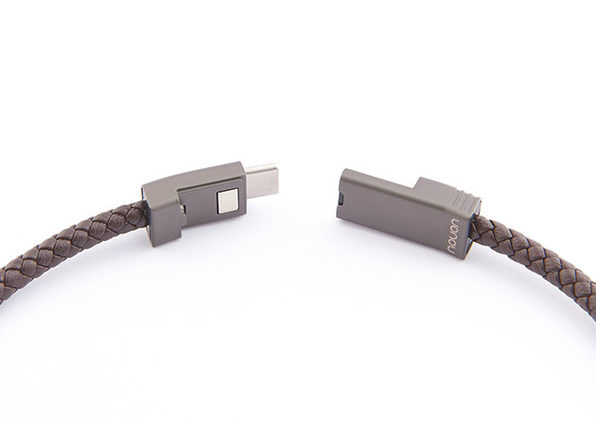 NILS 2.0 Solo: Fast Wearable USB-C Cable (Chocolate/ M)