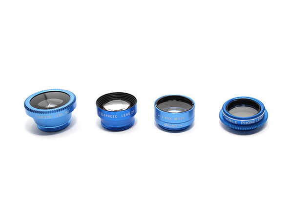 5-in-1 Clip & Snap Smartphone Camera Lenses (Blue)