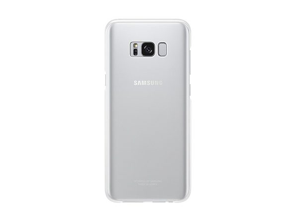 Samsung Galaxy S8 Clear Protective Cover, Clear Silver