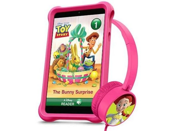 """Packard Bell Disney airBook 7"""" Kids Tablet with Expanded Accessory Bundle - Pink (New)"""
