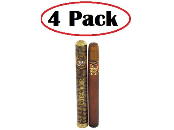 4 Pack of CUBA JUNGLE TIGER by Fragluxe Body Spray 6.7 oz - Product Image
